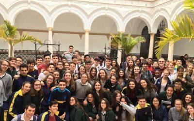 El Liceo recibe a alumnos de la base de Rota