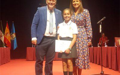 Nuestra alumna Natalia Aznar Velázquez, de 6°C de E.P.O. en el Pleno Parlamentario llevado a cabo en el Real Teatro de las Cortes de San Fernando
